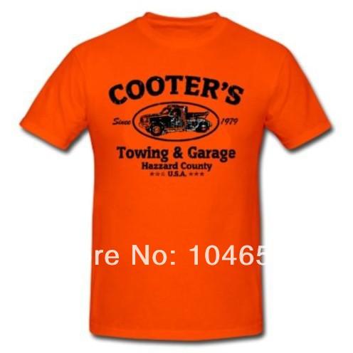 2014 new arrival men women t shirt cooters garage funny race car