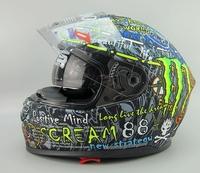Free shipping/ Cirus brand in HJC / Motorcycle Motorbike helmets/full face helmets with inner visor/HS-800 gray painting