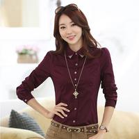 2014 women blusas spring shirt rhinestone pasted long-sleeve slim ol basic female long-sleeve blouse