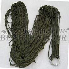 1pcs Army Green Portable Nylon Hang Mesh Net Outdoor Travel Camping Hammock (China (Mainland))