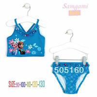 1405z free ship Beach Supplies Kids Swimwear Swim Wear 2 pc set Swim Bodysuit Frozen Anna & Elsa blue Frozen Swim 38799831608