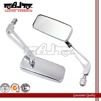BJ-RM-006 Chrome Alloy Motorcycle side Rear View Mirrors For Harley Honda Yamaha 8mm/10mm Screw