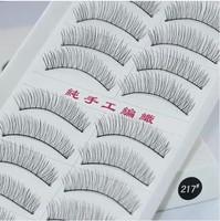 10 Pairs Of Reusable Natural and Regular Long False Eyelashes Artificial Fake Eyelashe