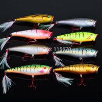 24pcs/lot Fishing Lures 2014 Hot Proberos Popper Lure 8color Fishing Tackle 9.5cm/14g Fishing bait Free Shiping