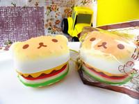 20pcs/lots rilakkuma hamburger  bread cell phone accessories