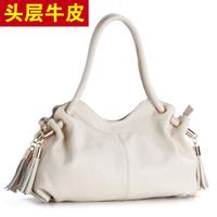 New 2015 Genuine Leather Women's Handbag Tassel Women Bag shoulder cross-body Dumplings Bags