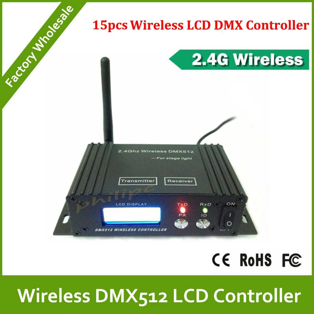DHL Free Shipping DJ equipment ,disco light Wireless LCD DMX Receiver Transmitter(China (Mainland))