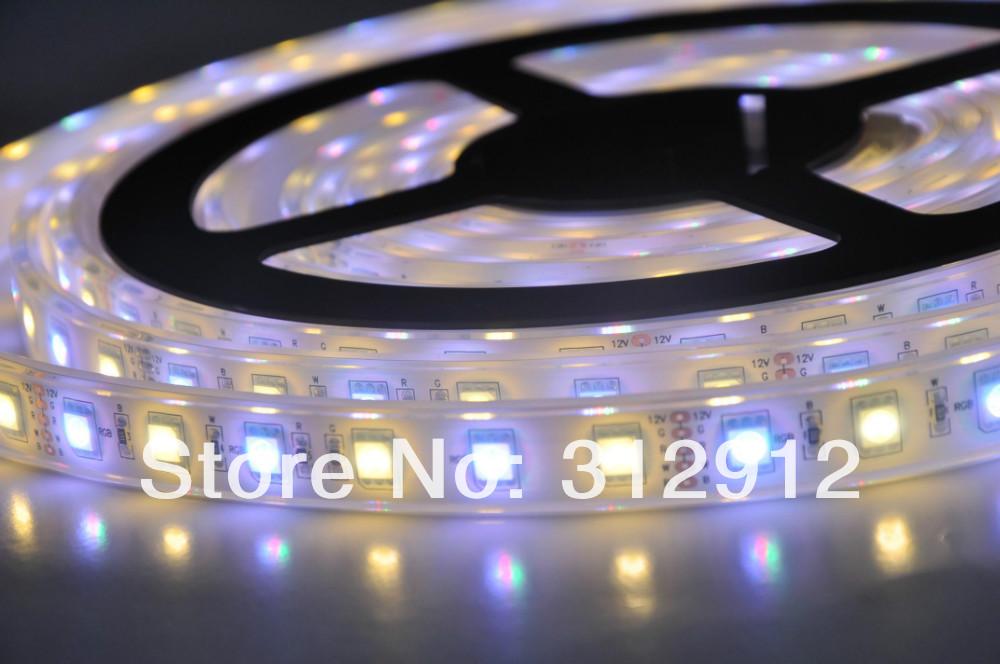 5M 300 LEDs 60led/M 5050 RGBW(RGB+Warm White) LED Strip Light;with epoxy resin filled;IP68;DC12V input;72W(China (Mainland))