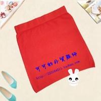2013 autumn ol high waist slim elastic knitted bag skirt slim hip short skirt female