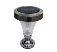 9LED stainless steel Solar wall light Doorpost lamp 2pcs/lot Free shipping