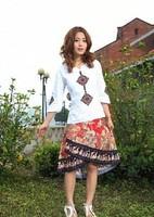New arrival 2014 national trend women's summer bohemia medium skirt bust skirt linen skirt female skirt