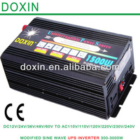 Guangzhou DOXIN Factory Intelligent High Capacity 1500W 12V /24V 110V /220V DC To AC Off Grid UPS Inverter With Battery Charger
