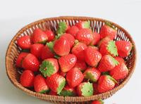 Artificial fruit mini plastic false vegetables fruit props decoration fruit 3.3cm strawberry
