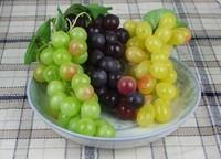 Artificial fruit grape bunch plastic fruit toy fake fruit plastic grape model props