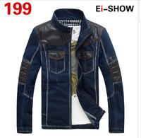 2014 men's clothing men's jeans jackets man denim jacket for men 100% cotton outerwear