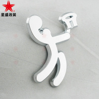 Basketball olympic logo personalized car stickers label decoration 3d stereo abs body stickers