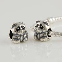 Lw059 diy  loose   925 pure silver beads pendant  thread