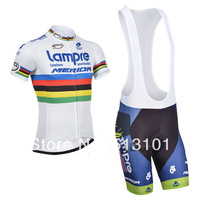 new product!!lampre merida short sleeve set cycling jersey Bicycle jersey (jersey+BIB pants)ALL IN STOCK