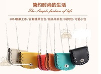 New 2014 Fashion Satchel Cute Women Messenger Bag Shoulder Bag PU leather CrossBody Bag Chain Candy Bags Bolsas Wholesale