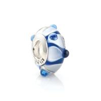 48008 diy   jewelry blue 925 pure silver beads pendant  colored glaze