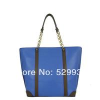 Fashion 2014 colorboard 100% genuine leather chain handles brand bolsas sacola de couro feminina,free ship