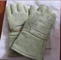Free shipping luvas 500 deg C high temperature resistant gloves insulated gloves welding gloves