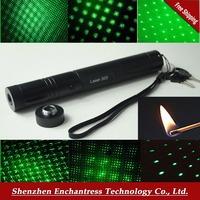 Laser 303 532nm Focus Laser 1w High Power burning Laser Pen with 18650 Battery Green Laser Pointer 10000mw