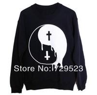 AA-149 Punk Women hoodies Big Bang Boy London Punk Taiji Great ultimate Yin Yang Cross sweatshirts pullovers Free shipping