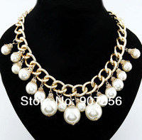 Fashion necklace, pearl necklace chain necklace