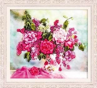 Лента для поделок комплект для вышивания 55 X 50 см рукоделие украшение цветок язык 3d мода картины
