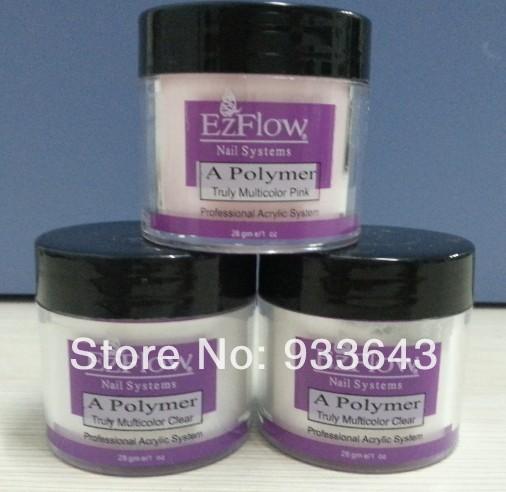 Ezflow acryl pulver clear+pink+white acryl pulver nagel kit set nagel-werkzeuge acryl nagel