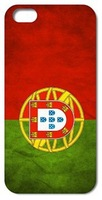 1pc Retail Portugal Flag Retro style Hard Case Cover for iphone 5 5S 4 4S free shipping