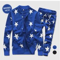 2014 new men casual sports hip hop tracksuits hoodies sweatshirt moleton suit +drop crotch harem bandana pants clothing set