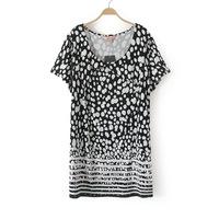 4XL 5XL 6XL Women Polka Dot T-shirt Casual Ladies Tee Top Plus Big Large Size Oversize XXXXL XXXXXL XXXXXXL 2014 New Summer