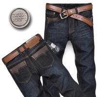 Men Jeans Italy Designer Brand Cotton Fashion 2014 New High Quality Black Color Brand Men's Jeans Men Pants size 36 38 Hot sale