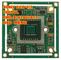 "Free shipping:Camera Sony CCD Board Effio-e  4140+811 700TVL 1/3 ""OSD MENU  High-definition surveillance camera chip board"