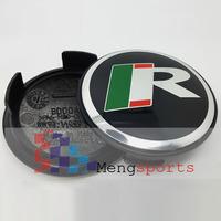 100pcs Leap R Alloy Black Wheel Center Caps Badges