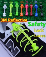 New Innovation~2014 New 3M Reflective Safetly Elastic Laces with Locks~Reflective Safety Lock Laces~8 colors~DHL FREE SHIPPING