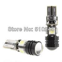 100X Car Auto LED T10 W5W 5 led smd 4pcs 5050SMD+1pcs1.5W Wedge CANBUS OBC ERROR FREE led Light Bulb Lamp White free shipping