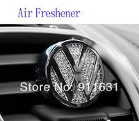 Car Air Freshener 100% Perfume Crystal for VW Car Emblem Car Air outlet with Diamond accessories car Perfume