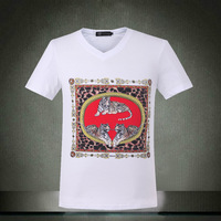 tops & tees new 2014 clothing male casual shirts, men's shirt Big yards men's clothing t shirt men free shipping
