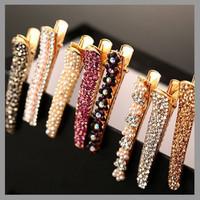 Free shipping 2014 New Fashion Women Headwear Hair Accessories Rhinestone Pearl Hair Clips Barrettes