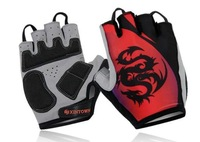 Dragon riding half-finger gloves bike gloves, sports equipment, outdoor mountain bike red crown spikeM/L XL