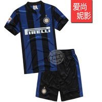 13 - 14 blue black soccer jersey set competition football clothing saneidi homecourt uniforms