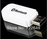 3.5mm USB Bluetooth Stereo Audio Music Receiver Adapter For IPhone/Ipad/Ipod/Andriod PC Speaker 100Pcs/lot Free Shiping