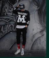 Men's clothing adyn admirabl street fashion trend of the loose pullover sweatshirt