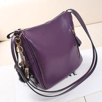 women messenger bag women handbag genuine leather vintage fashion student bag candy-colored shoulder bag chain bag free shipping