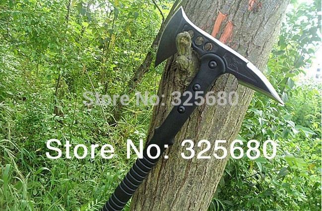SOG 56HRC 420 Steel Devil ax Jungle Axe Engineer Camping Tomahawk Multifunction cutting Outdoor Life saving