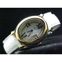 NEW ARRIVAL Elegant Diamond Ladies Quartz:31MM White Gold Watch