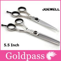 Joewell Professional Hair Cutting Barber Scissors Set Tijera De Pelo Peluquero 5.5 Inch Salon Styling Tools High Quality
